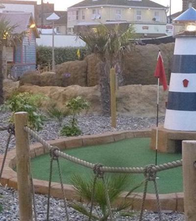 Mini golf course at Castaway Island in Great Yarmouth