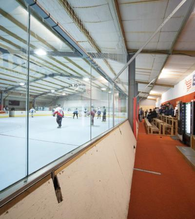 Ice hockey match at Midlands Roller Arena in Lutterworth
