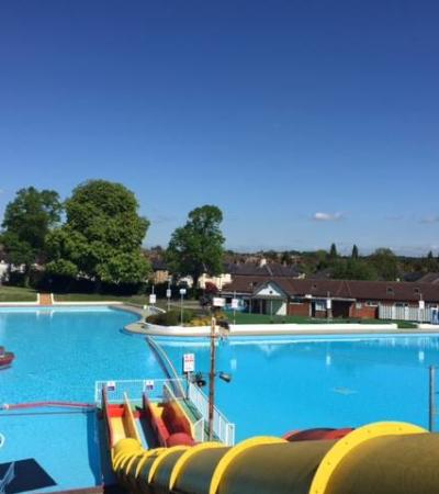 Outdoor swimming pool at The Aldershot Lido