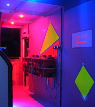 Briefing room at Laser Storm in Spalding