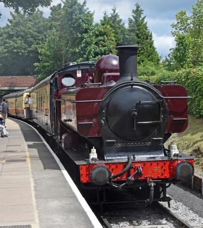 Steam train at Chinnor and Princes Risborough Railway