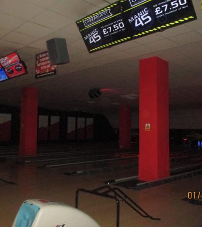 Bowling lanes at Big Apple Woking