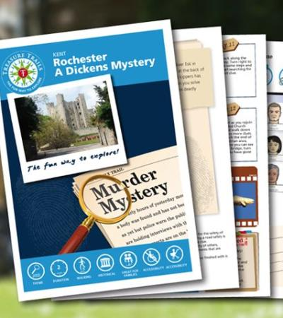Map and booklet for The Rochester Mystery Trail