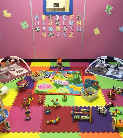 The baby play area at Imagination Children's Role Play, Camberley