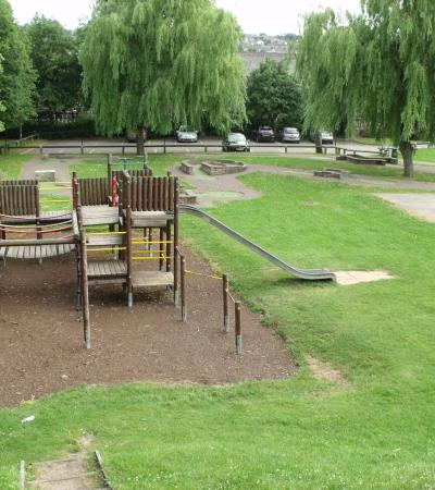 Adventure playground at Cliffe Park in Dronfield