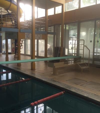 Diving boards at The Quarry Swimming and Fitness Centre in Shrewsbury