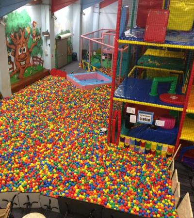 Ball pit at Harlequinns Leisure in Bude