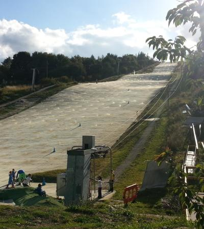 Dry ski slope at Chatham Ski and Snowboard Centre in Gillingham