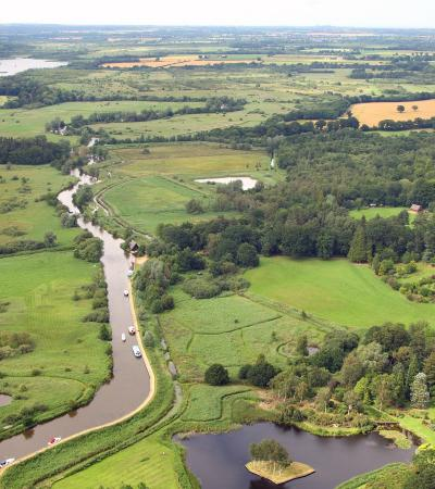 Aerial view of The How Hill Trust in Ludham