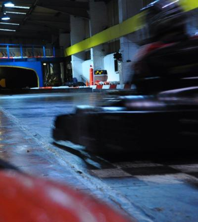 Go kart racing at Anglia Indoor Kart Racing in Ipswich