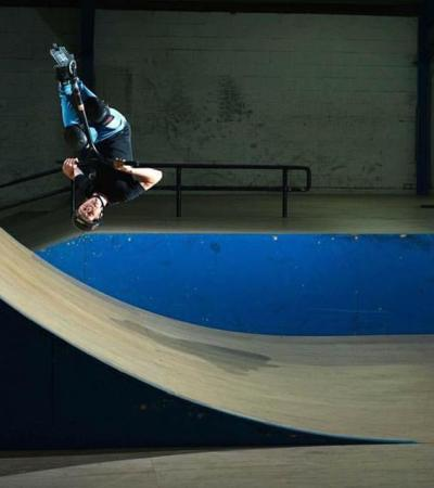 Indoor skate arena at The Asylum Skatepark in Huthwaite