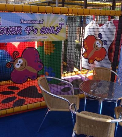 Soft play frame at Studley Grange Garden and Leisure Park in Swindon