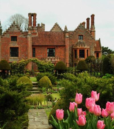 Gardens and outside view of Chenies Manor