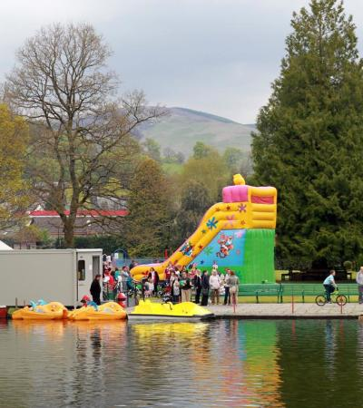 Fun day event at Station Park in Forfar