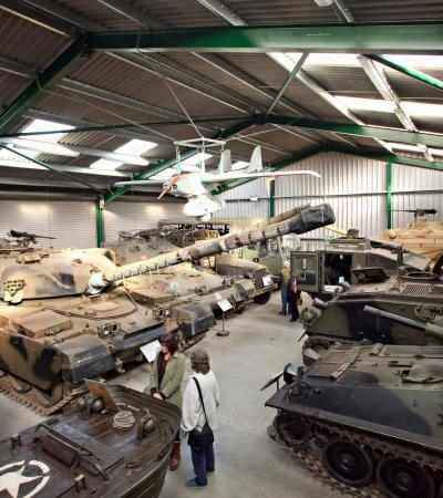 Tank display at The Muckleburgh Military Collection in Weybourne