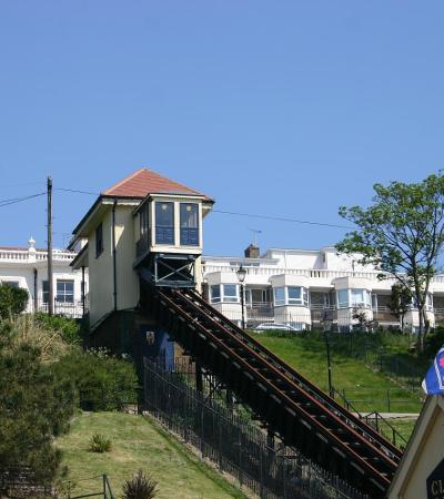 Outside view of Southend Cliff Lift in Southend On Sea