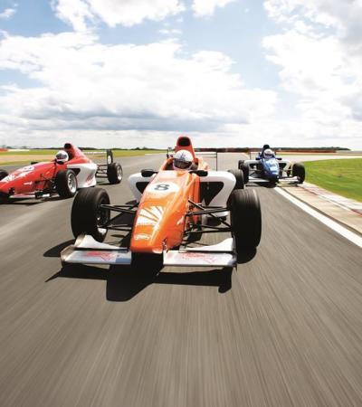 F1 cars at Silverstone in Towcester