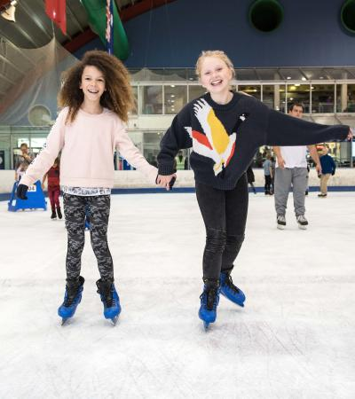 Children skating at Lee Valley Ice Centre