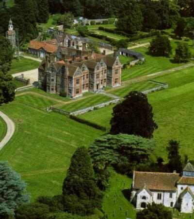 Aerial view of Breamore House and Museum