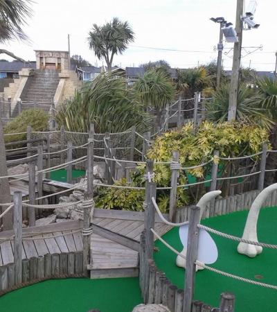 Mini golf course at Lost World Adventure Golf in Hemsby