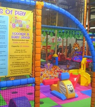 Toddler soft play area at Jimmy Beans in Sutton in Ashfield