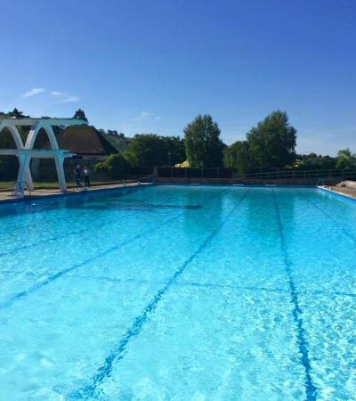 Outdoor swimming pool at Stratford Park Leisure Centre in Stroud