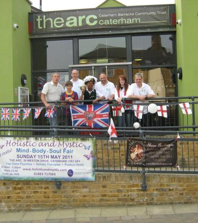 Staff outside The Arc in Caterham