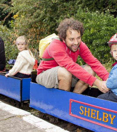 Families on Brockwell Park Miniature Railway in Herne Hill