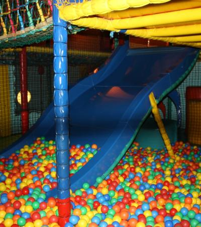 Ball pit and slide at Fuzzy Ed's Hare & Hounds