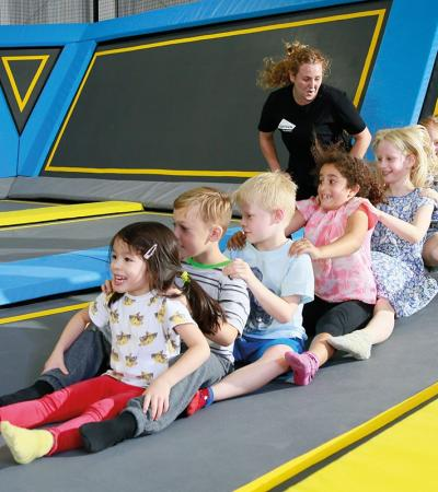 Kids participate in activity at Oxygen Freejumping Acton