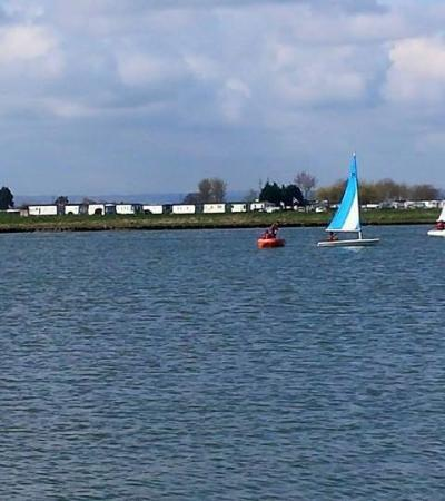 People sailing at Bartons Point Coastal Park in Sheerness