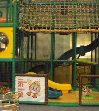 Indoor soft play frame at Fun Time in Liverpool