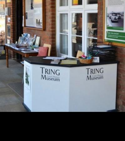 Information desk at Tring Local History Museum