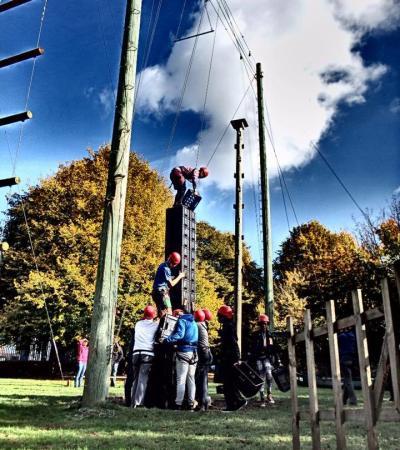 Team building activity at Kempston Outdoor Centre