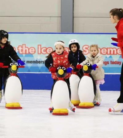 Kids ice skating at Planet Ice Hemel Hempstead