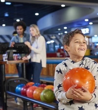 Family bowling at Hollywood Bowl in Watford