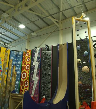 Climbing walls at Barking Sporthouse in Dagenham