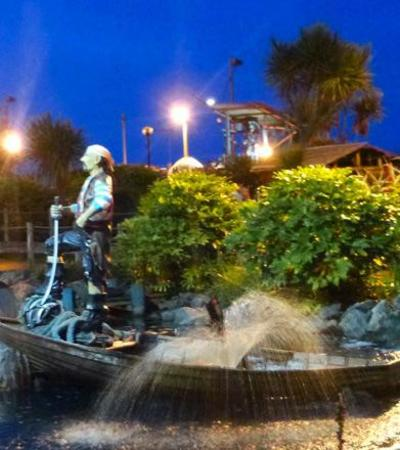 Pirate decor at Pirates Cove Golf in Great Yarmouth