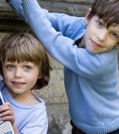 Boys on Mystery Treasure Trail