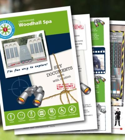 Map and booklet for Woodhall Spa Spy Mission Treasure Trail