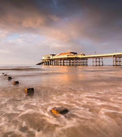 Sunrise at RNLI Lifeboat Station Cromer Pier