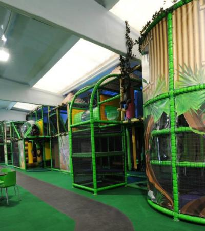 Indoor soft play frame at Jungle Jims Playland in Sandy