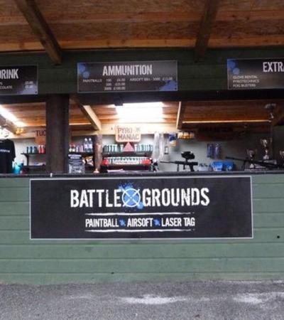 Reception desk at Battle Grounds Paintball in Aberdeen