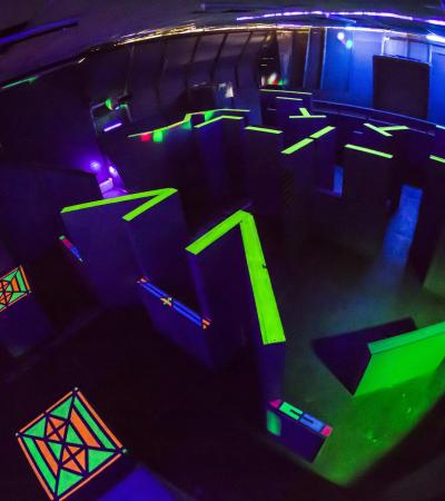 Laser maze at Laser Tag Star Command in London