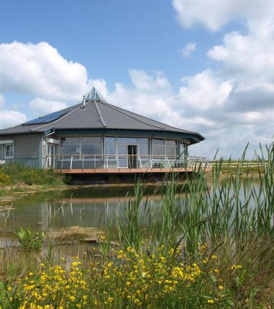Visitors centre at Abberton Reservoir Nature Reserve in Colchester