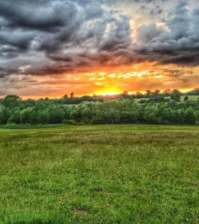 Sunset at Weald Country Park in Brentwood