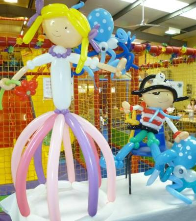 Balloon models at Planet Happy in Ripley