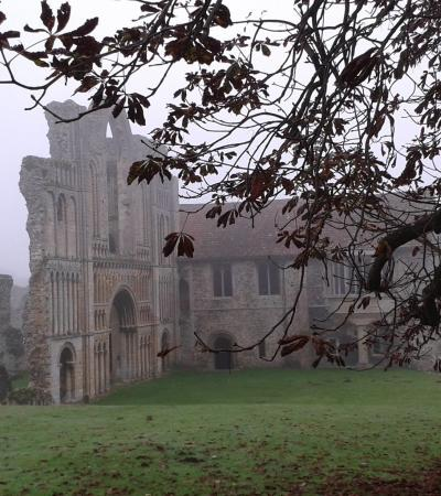 Ruins of Castle Acre Priory in Kings Lynn