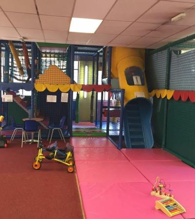 Indoor soft play frame at The Play Mill in Bonsall