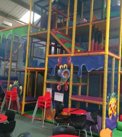 Indoor soft play frame at Mini Monsters Softplay in Oakham